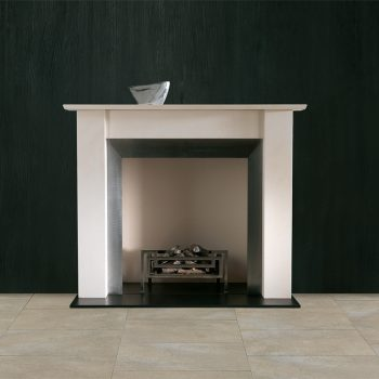Chesneys Murano fireplace with Fibonacci fire basket