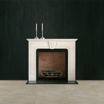 Chesneys Harwood fireplace with the Morris freestanding fire basket and Regular brick interior panels