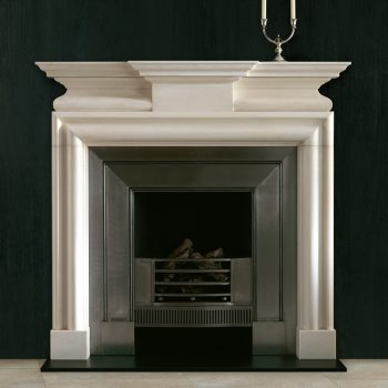 Chesneys Leverton fireplace with the Cubitt register grate