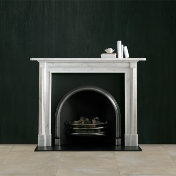 Chesneys Albany fireplace with Ornate Arched register grate
