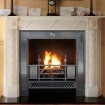Chesneys Edinburgh fireplace with the Chamberlain register grate