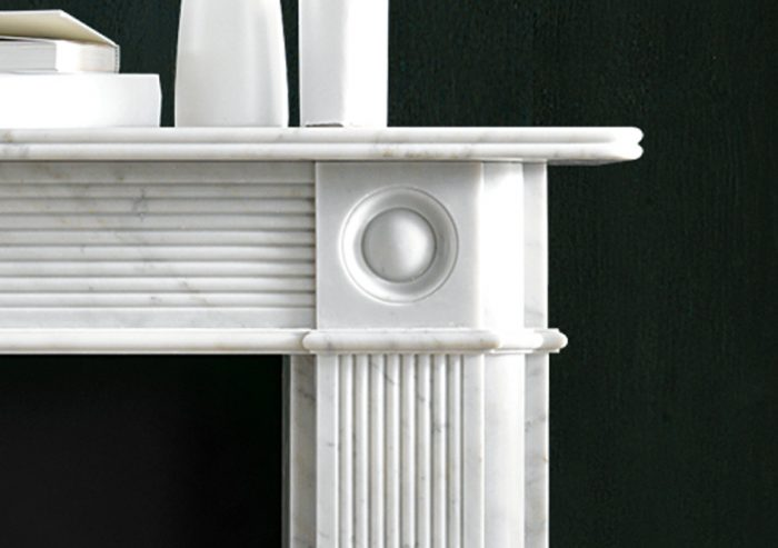 Chesneys Reeded Regency Bullseye fireplace