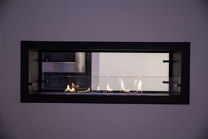 Decoflame Bioethanol Fire Orlando Open Front Back Manual Or E-Ribbon Main