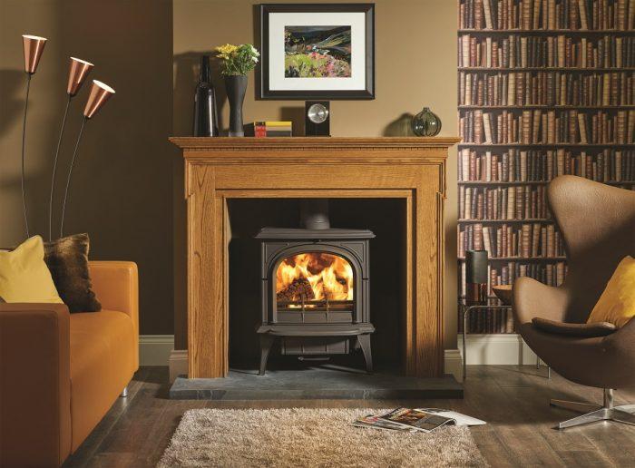 Stovax & Gazco Huntingdon 40 wood burning stove with clear door