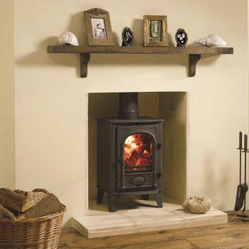 Stovax & Gazco Stockton 4 wood burning stove in matt black