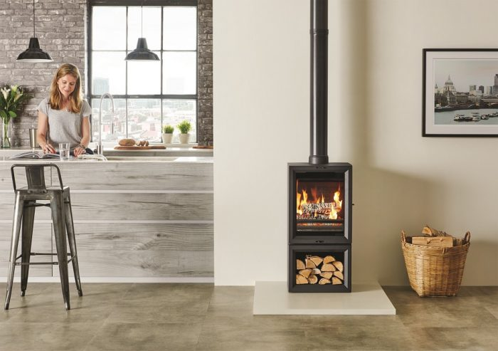 Stovax & Gazco View 5T Midline wood burning or multi-fuel stove