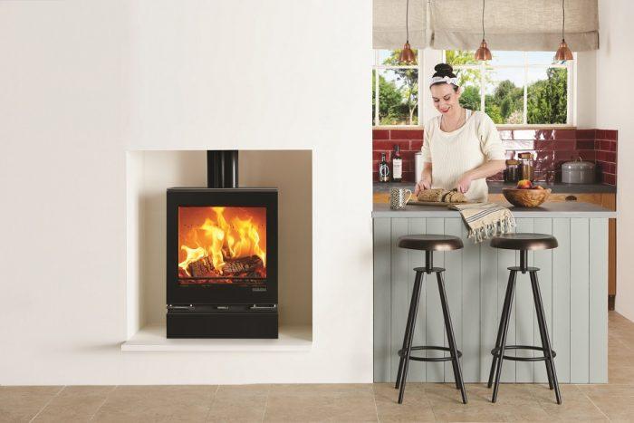 Stovax & Gazco Vision Medium wood burning or multi-fuel stove