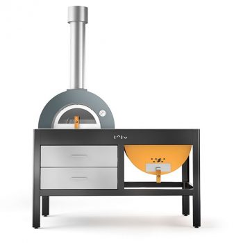 Alfa Pizza Toto wood-fired oven grill yellow 722
