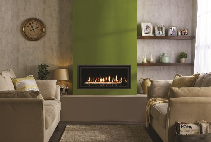 Stovax Gazco Studio 2 gas fire balanced flue Edge + 945