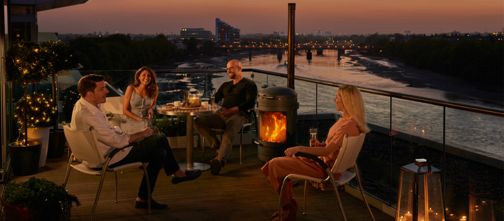Chesneys HEAT collection; barbecue heater range now in showroom