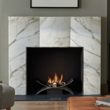 Chesneys Bradley fireplace by Kelly Hoppen with the Depp fire basket