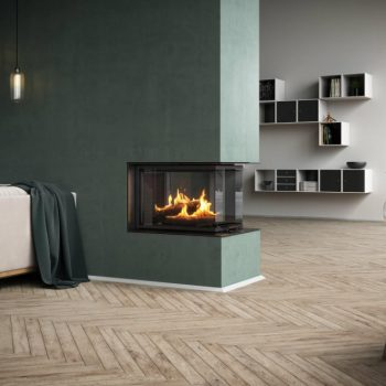 RAIS Visio 3:1 wood burning stove
