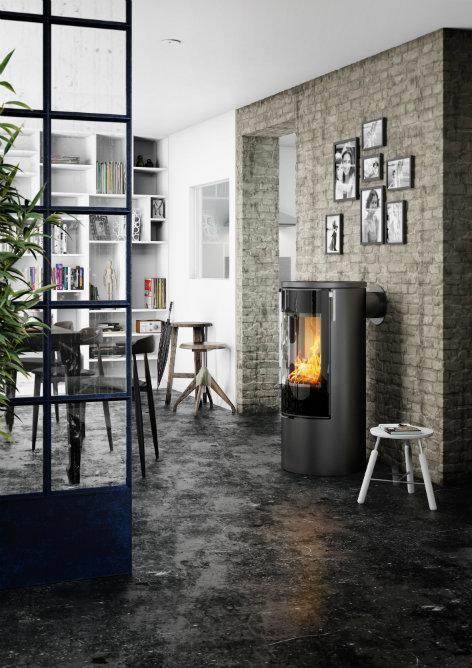 Rais Viva L 100 interior wood burning stove