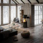 Rais Viva L 120 interior wood burning stove