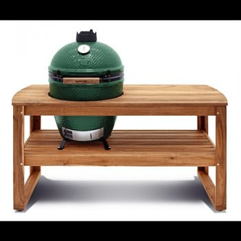Big Green Egg table Acacia large main