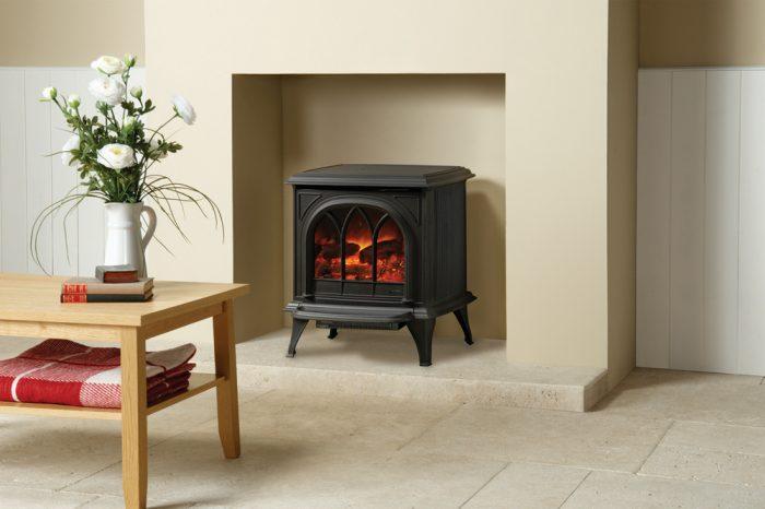 Stovax & Gazco Huntingdon 30 matt black electric stove