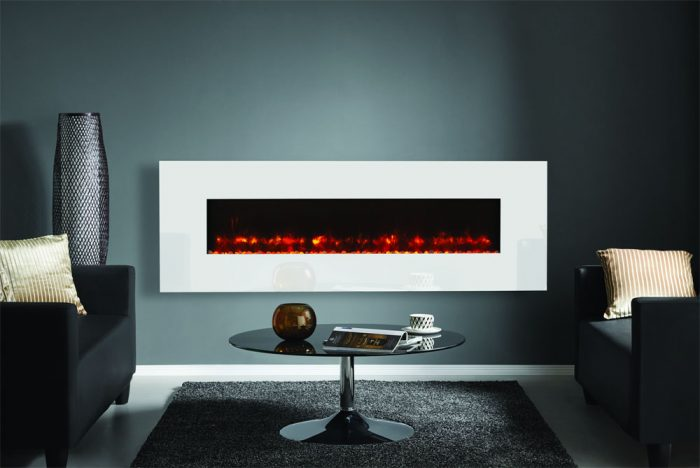 Stovax & Gazco Radiance 150W white glass electric fire