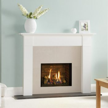 Stovax & Gazco Riva2 500 Edge brick effect lining gas fire