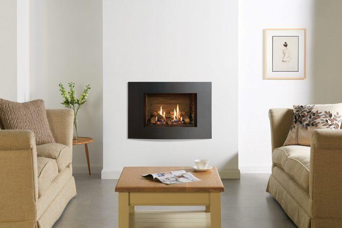 Stovax & Gazco Riva2 500 Verve XS Ledgestone effect gas fire