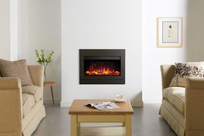 Stovax & Gazco Riva2 670 Designio2 Steel electric fire