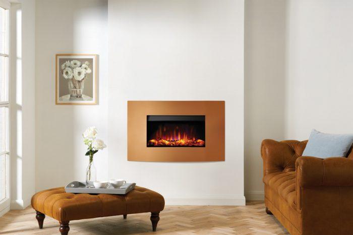 Stovax & Gazco Riva2 670 Verve XS metallic bronze electric fire