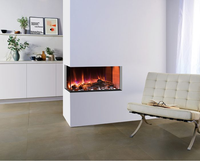 Stovax & Gazco Skope Outset 70kw log and pebble effects electric fire