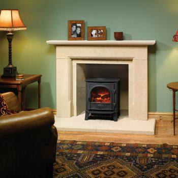 Stovax & Gazco Stockton 5 matt black electric stove