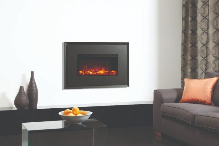 Stovax & Gazco Riva2 670 Evoke graphite steel electric fire with graphite rear