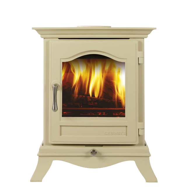 Chesneys Belgravia 4 series wood burning stove in parchment