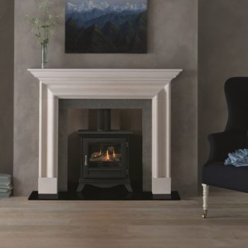 Chesneys Beaumont standard gas stove with a matt black finish