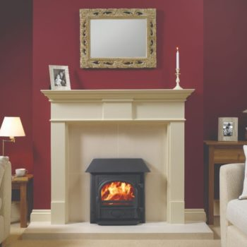 Stovax & Gazco Stockton Milner wood burning stove in matt black